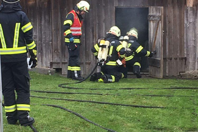 Atemschutzübung in Stadlberg