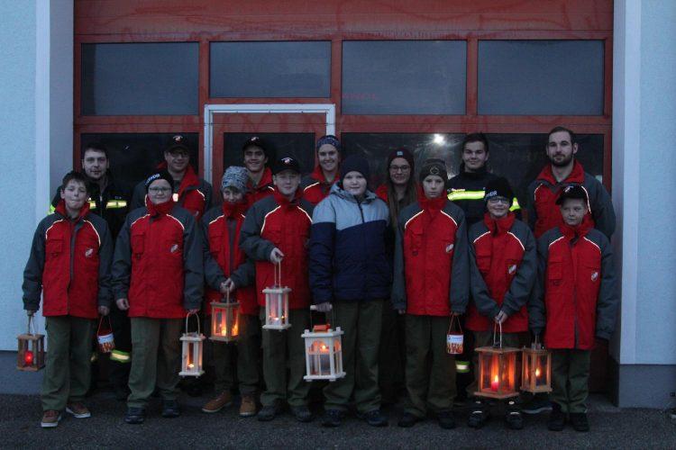 Friedenslichtaktion der Feuerwehrjugend 2018
