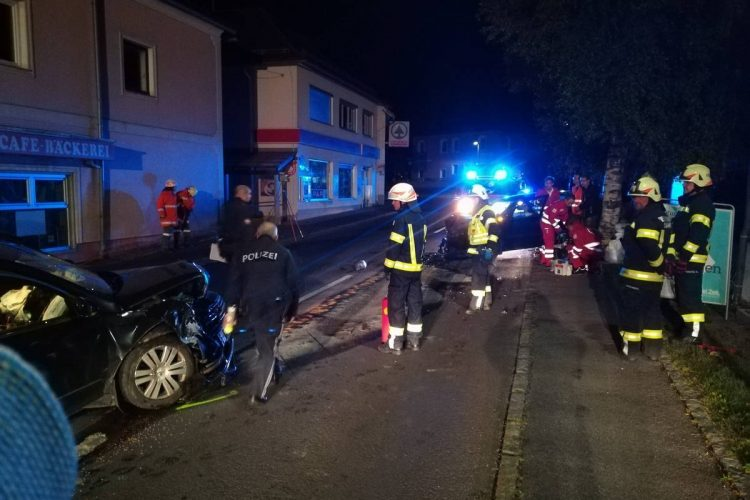 Verkehrsunfall im Ortszentrum